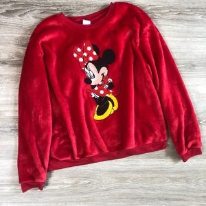 Disney Minnie Mouse Soft Pullover Sweater Red